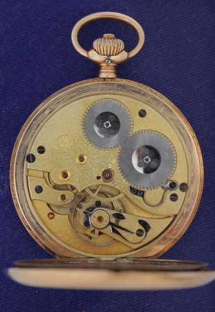 pocket watch open view to the machinery