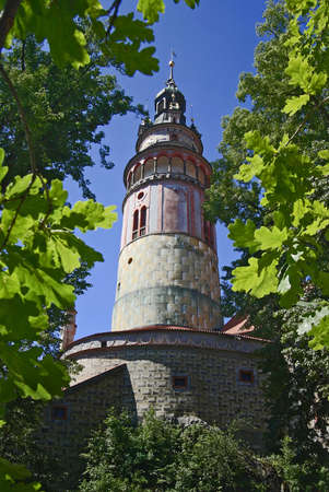 Cesky Krumlov view to castle tower - Czech republic