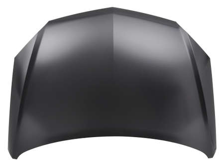 engine bonnet: black cyr bonnat isolated in white