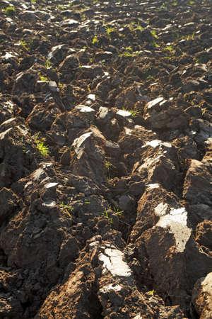 agri: fresh plugged soil Stock Photo