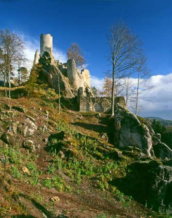 Ruins of castle Frydstejn in nothern Bohemia - Czech republic