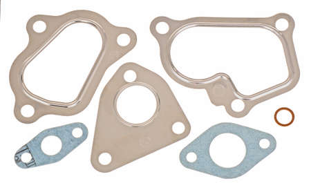 metal parts: set of a gaskets Stock Photo