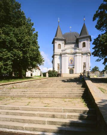 Famous pilgrim church at Moravia - Czech republic Standard-Bild