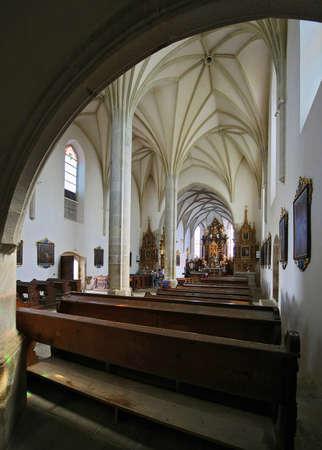 Church of the Assumption Holy Virgin Mary - Kajov interior - Czech Republic. Editorial
