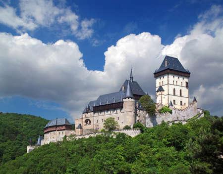 Karlstejn castle, view from the south - Czech republic