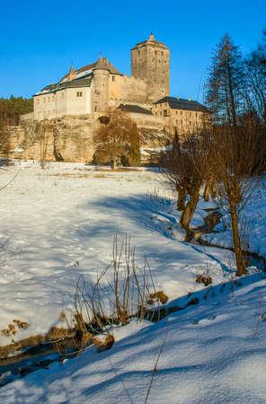 Winter view to the Kost castle - Czech Republic