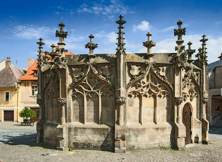 Kutna Hora view to medieval fountain Standard-Bild
