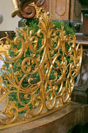 vermeil: vermeil lattice at church Stock Photo