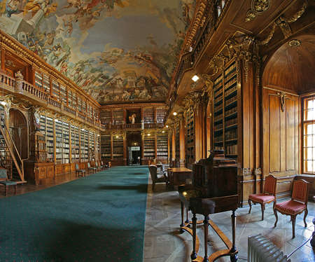 theological: theological hall of Strahov library Praha