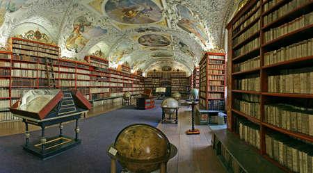 Praag - matematical hal van het Strahov klooster bibliotheek