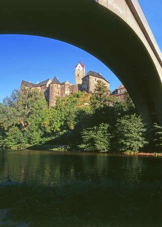 bohemia: Loket castle in western Bohemia- Czech republic Editorial