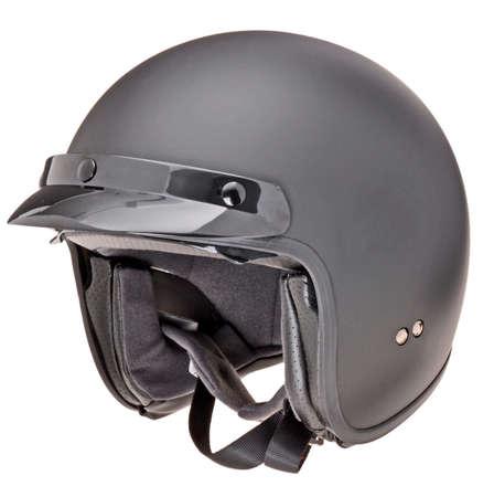 Moto Helm isoliert in weiß Standard-Bild - 53281450