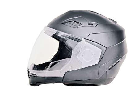 Motorradhelm isoliert Standard-Bild - 53281451