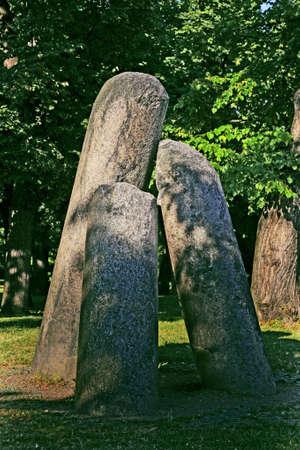 Alte Spalte Stein Teufel in Vysehrad in Prag - Tschechische Republik Standard-Bild - 53170111