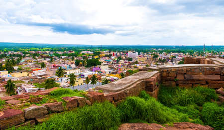 Landscape view of city of badami, Karnataka.