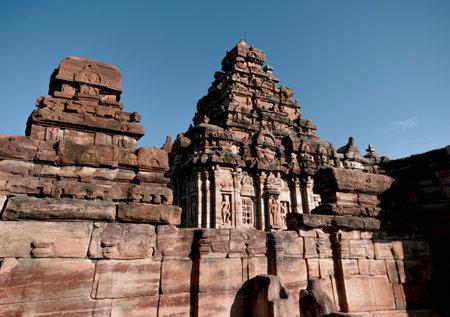 Sangameshwara temple outlook at Pattadakal, karnataka Stock Photo