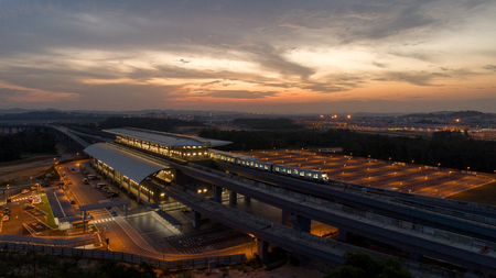 KUALA LUMPUR, MALAYSIA - JULY 18, 2017 : MRT (MASS Rapid Transit) Station in Kwasa Damansara, Malaysia, MRT is new public transport for everyone Editorial