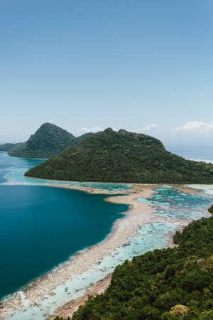 Semporna, Sabah, Malaysia - 26 April 2020 - Bohey Dulang Island