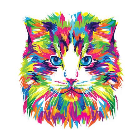 Adorable Cat Illustration, Cat Art, Cat Design Ilustração