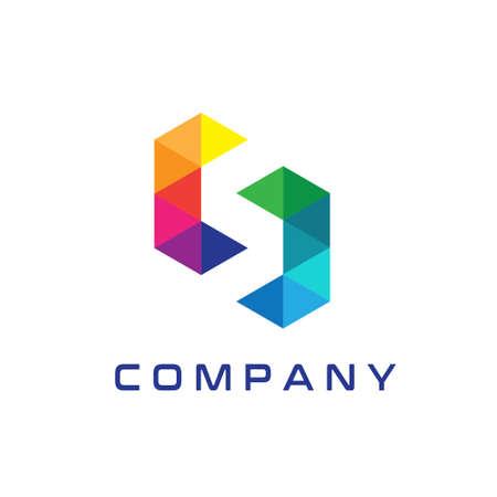 Modern S Logo Design Templates, Abstract S Logo, CS Logo Ilustração