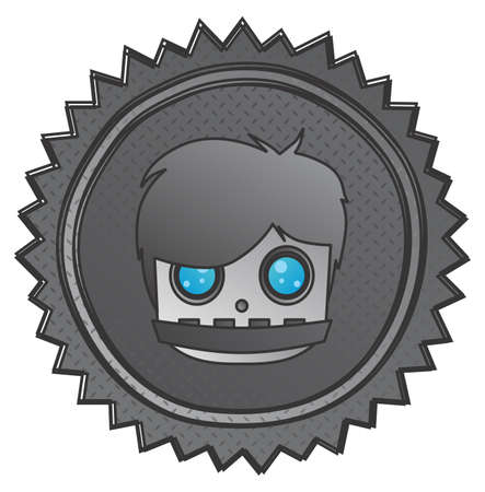 android robot: android robot art label head