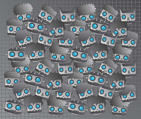 android robot: android robot art grey Illustration
