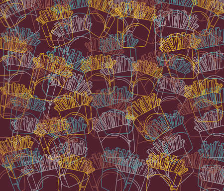 pattern art fries Vector