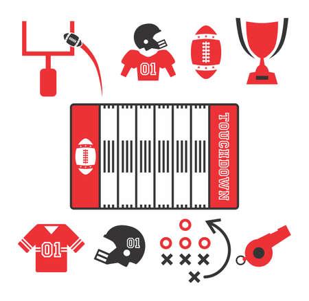 미국 축구의 아이콘 스톡 콘텐츠 - 20221769