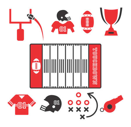 tactics: american football icon Illustration