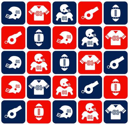 american football icon Stock Illustratie