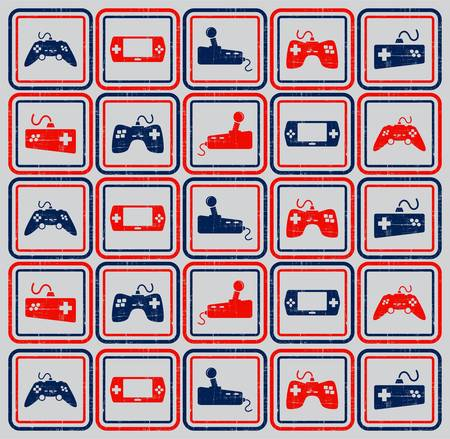 handheld device: games icon set