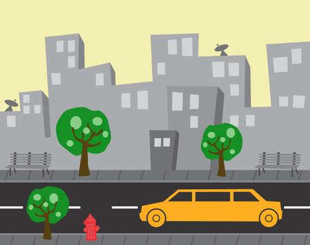 ambulance car: car in the city