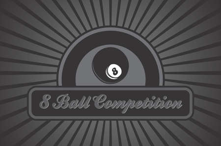 billiard illustration eight ball Vector