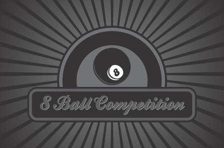 eight ball: billiard illustration eight ball Illustration