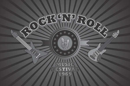 rock and roll vintage Vector