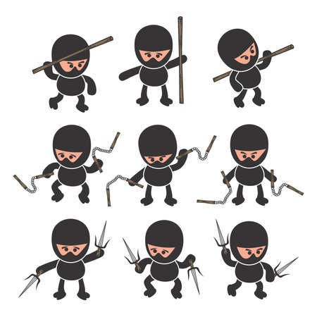 ninja cartoon Vector