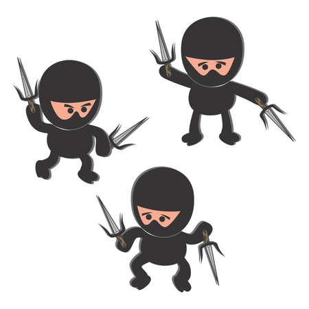 ninja cartoon sword Vector
