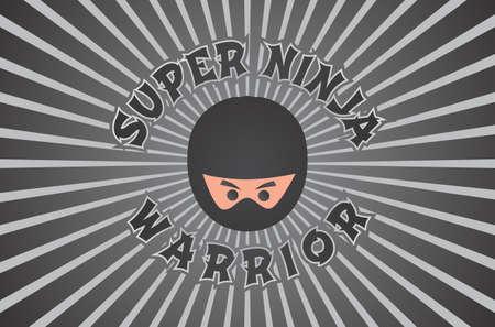 ninja retro Vector