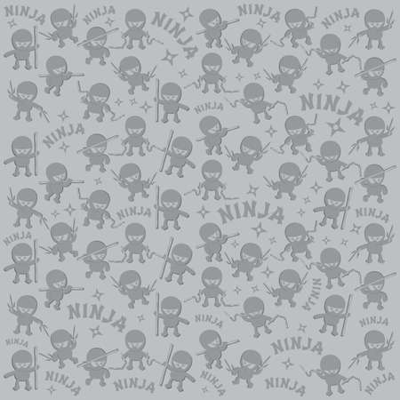 ninja cartoon pattern