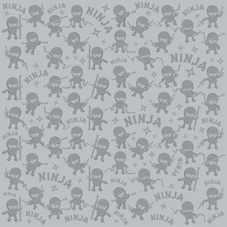 ninja cartoon pattern
