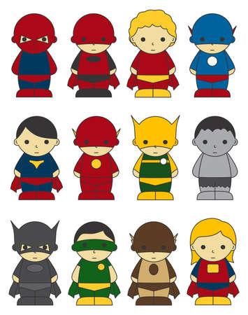 action hero: hero super boy Illustration