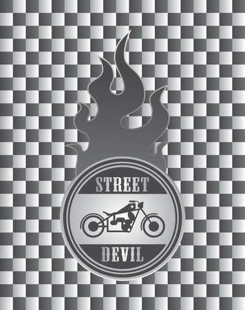 old motorcycle art street Vector