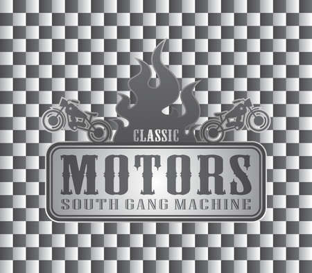 old motorcycle art auto Vector