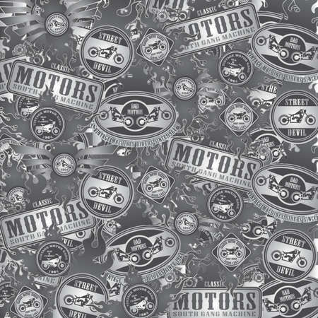 motorcycle art label full