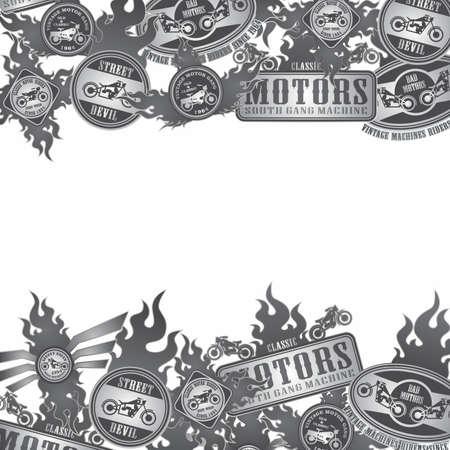 motorcycle art label crack