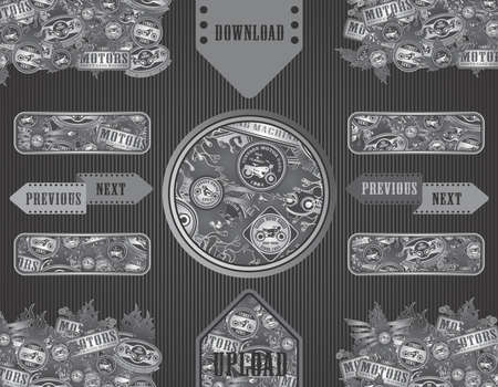 wheal: motorcycle art label set all