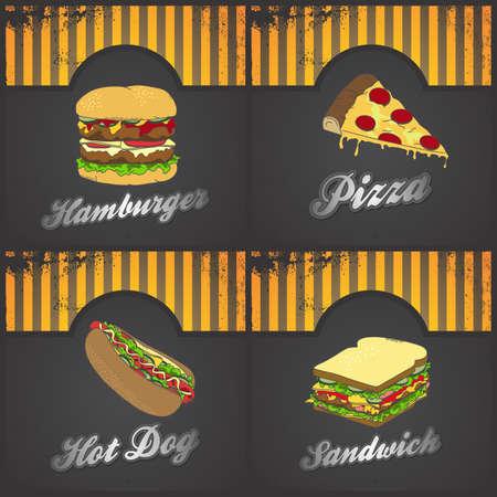 fast food set art
