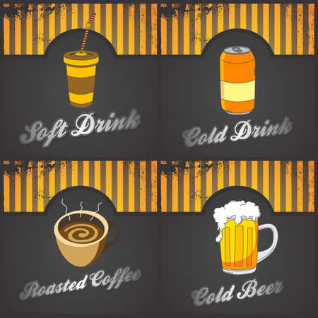 fast food set vintage Vector