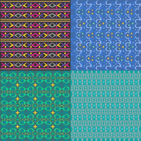 nice pattern set Vector