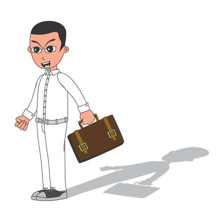 worker cartoon: trabajador de la historieta Vectores
